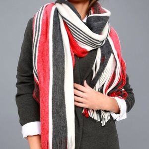 Free People blanket scarf with fringe